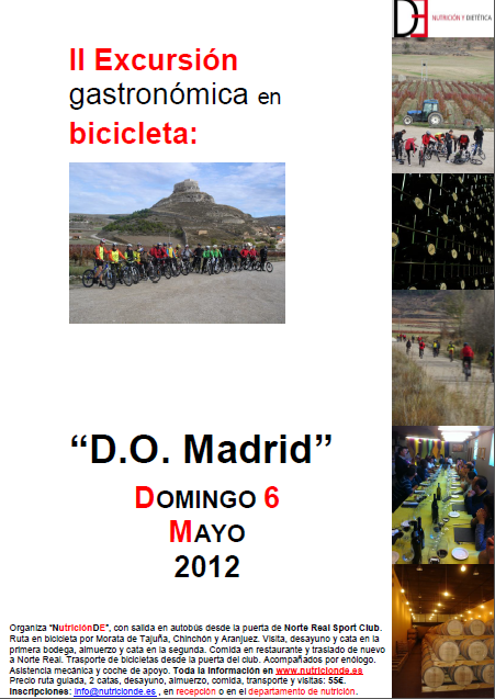 """Excursión gastronómica en bicicleta por la """"D.O. Madrid"""""""